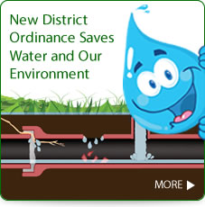 New district ordinace saves water and our environment