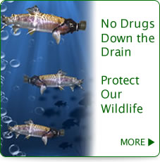 No DrugsDown theDrainProtect Our Wildlife